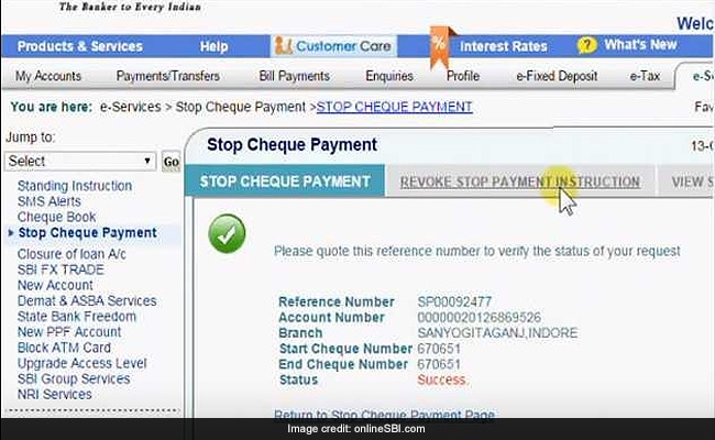 Sbi Cheque Book Request Application Form