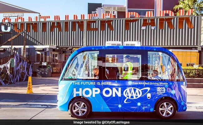 Self-Driving Shuttle Begins With A 'Bang' In Las Vegas