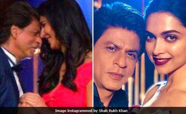 Poor Shah Rukh Khan Had A 'Hard Day At Work,' With Deepika Padukone And Katrina Kaif