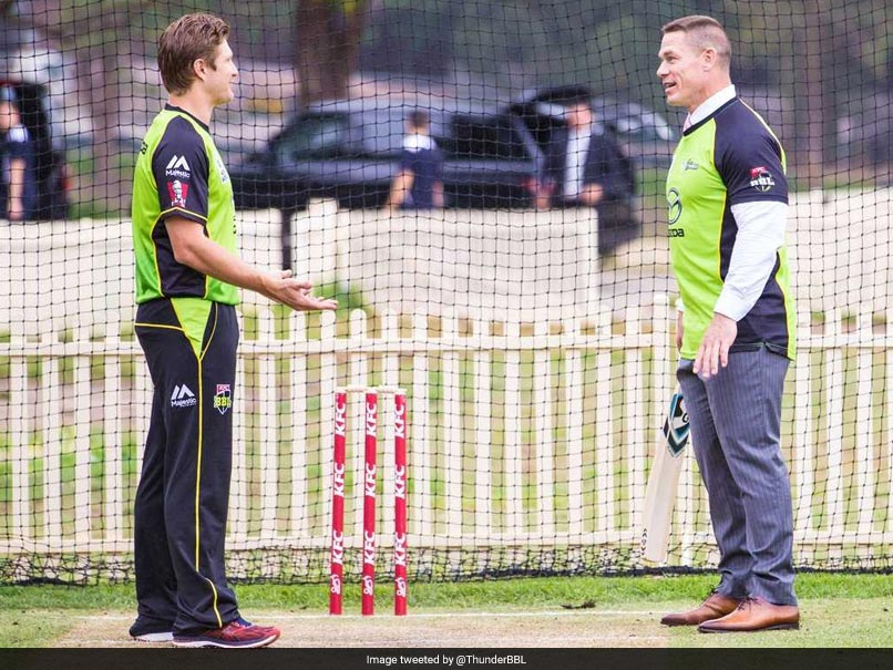 Watch: WWE Star John Cena Tries His Hand At Cricket, Gets Bowled