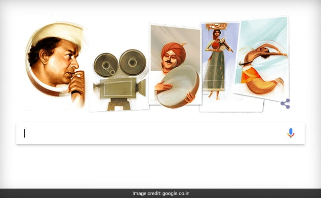 Google dedicates its doodle to V Shantaram on his 116th birthday