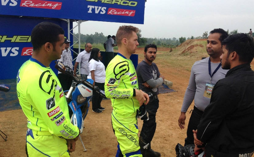 sherco tvs rtr 450 fx first ride