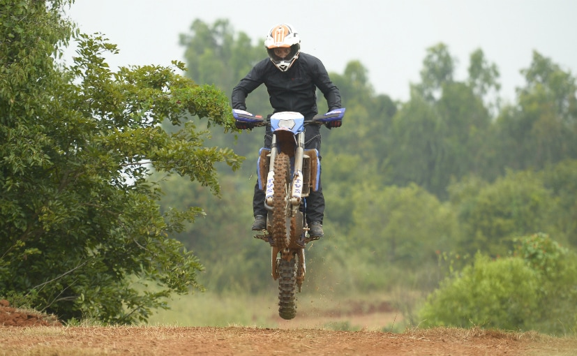 The Sherco-TVS RTR 450 FX is mad, mad fun! Sadly, it's not offered on sale
