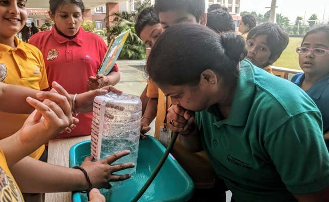 Students From Noida School Develop Air Purifier Model, Conduct Lung Capacity Test