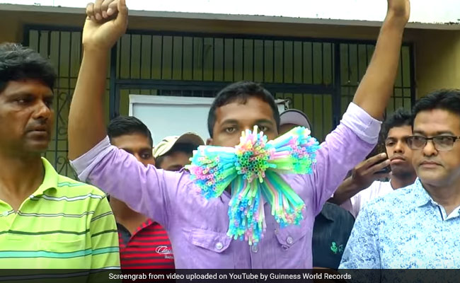Odisha Man Stuffs 459 Straws In His Mouth, Sets World Record. Watch