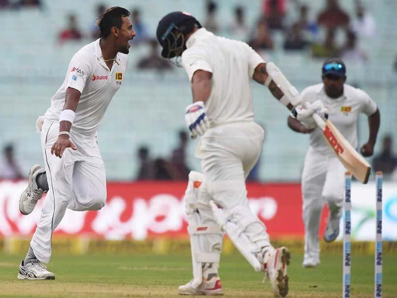 1st Test: Suranga Lakmal Rattles India