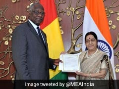 Sushma Swaraj Holds Bilateral Talks With Guinea's Foreign Minister
