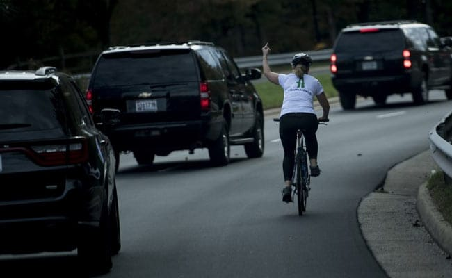Cyclist Who Gave President Trump The Finger Loses Her Job: Report