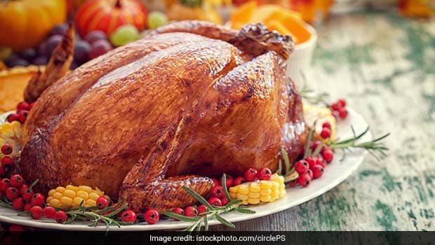 Roast Turkey With Cranberry Sauce Recipe Ndtv Food