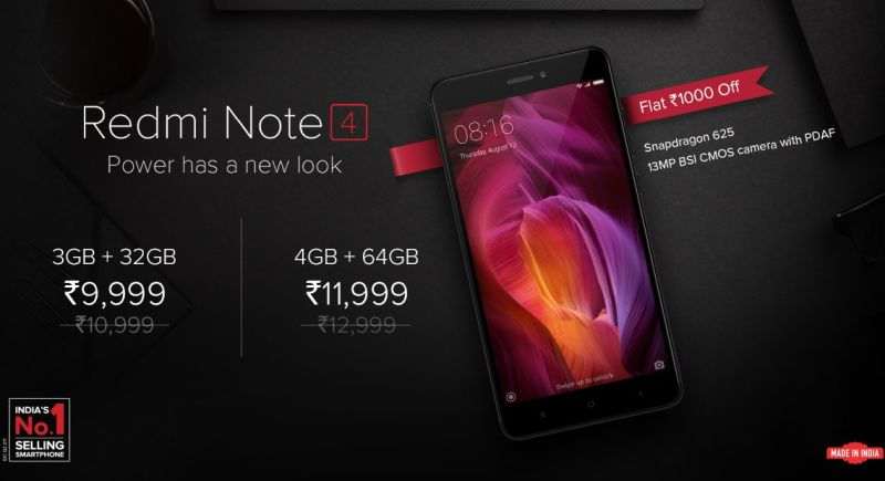 Xiaomi Redmi Note 4 हुआ सस्ता, अभी मिल रहे हैं और भी ऑफर