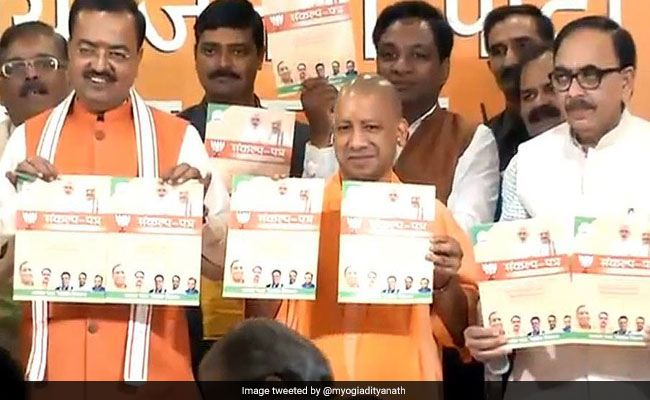 UP Chief Minister Yogi Adityanath Releases BJP's Manifesto For Municipal Polls