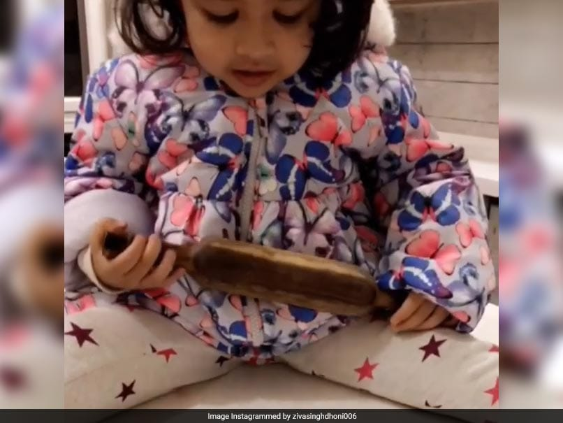 Singer first, cook now; Dhoni's daughter Ziva is a sensation