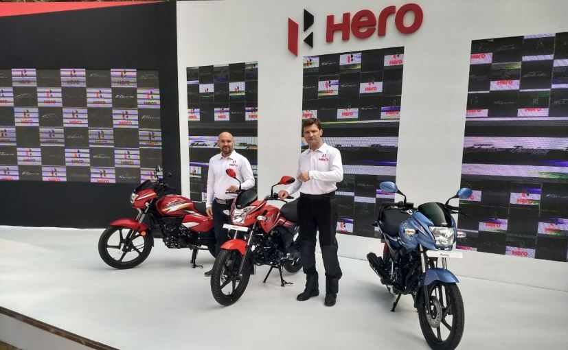 Hero MotoCorp unveils three new motorcycles for the Indian market