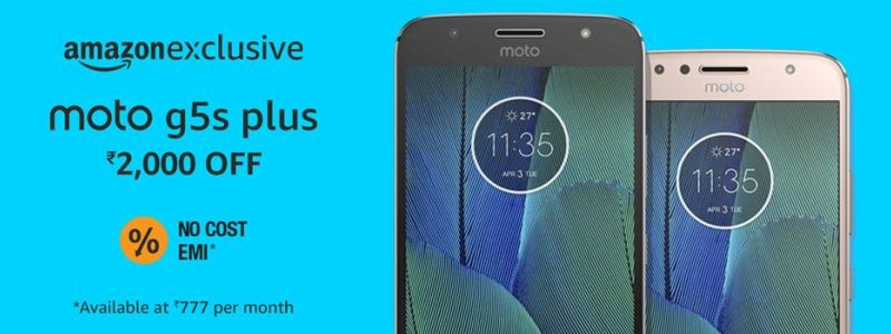 amazon moto g5s plus offer