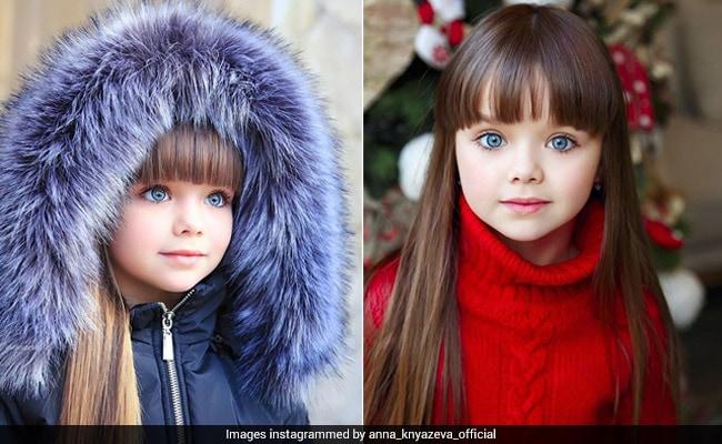 PHOTOS: नीली आंखें और खूबसूरत बाल, मिलिए 'दुनिया की सबसे खूबसूरत लड़की' से