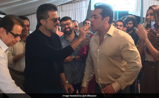 Anil Kapoor And Salman Khan's Jhakaas Birthday On The Sets Of Race 3