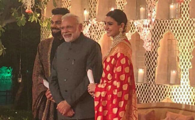Image result for virat and anushka reception