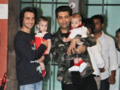 At Arpita Khan's Christmas Party: Karan Johar's Twins And Soha Ali Khan - Kunal Kemmu's Daughter Won Our Hearts