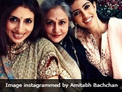 Just Another Pic Of Jaya Bachchan With Shweta and Navya Naveli, Captioned By Amitabh Bachchan
