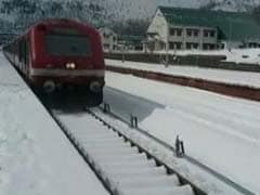 Kashmir Train Ploughing Through Snow Is A Feast For The Eyes