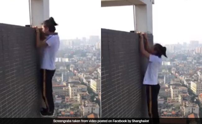 A Daredevil Died Doing Pullups Off A Skyscraper In China