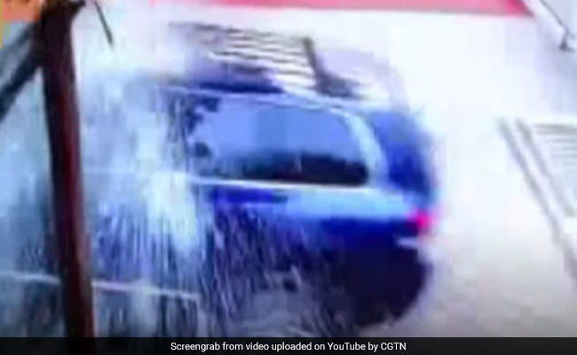 China: SUV Smashes Through Hotel Door  Driver Hit Accelerator By Mistake
