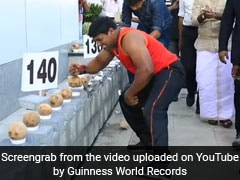 Using Just His Hand, Kerala Man Smashes 122 Coconuts In A Minute. Watch