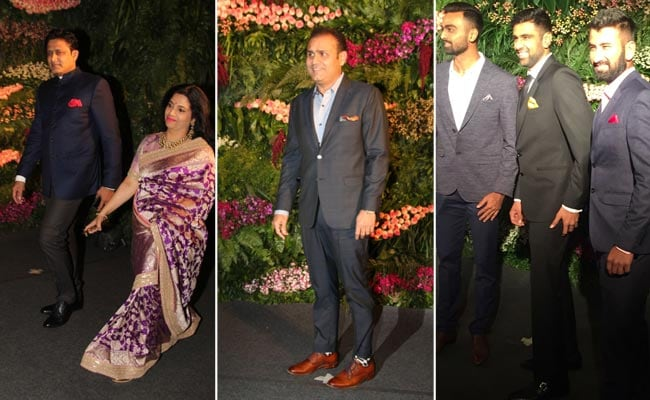 cricketers at virushka wedding ndtv