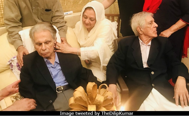 See Pics From Dilip Kumar's 95th Birthday Party With Wife Saira Banu And Friends