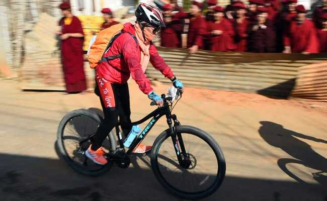 To Promote Gender Equality, 'Kung Fu Nuns' On Bikes Swap Maroon Robes For Lycra Leggings