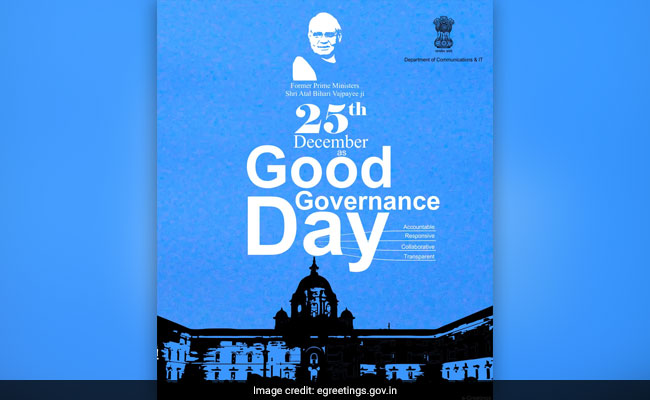 Good Governance Day 2017: Date, History, Objectives
