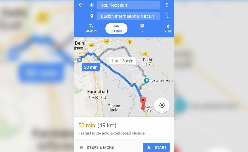Google Maps New Motorcycle Navigation Mode Goes Live