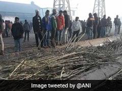 गोपालगंज हादसा : जांच दल हेलिकॉप्टर से घटनास्थल पर भेजा गया, उत्तेजित भीड़ ने वाहन जलाए
