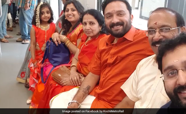 groom takes kochi metro to wedding facebook 650