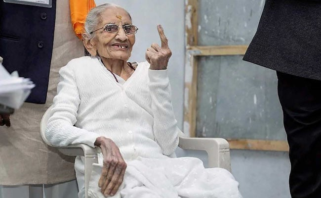 PM Modi's Mother, Wife Cast Votes As Gujarat Goes To Polls