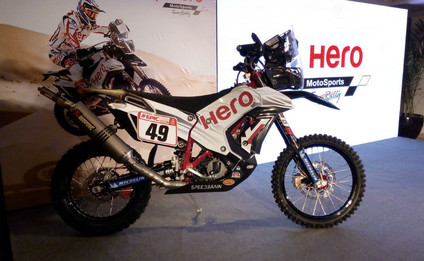 Hero Motorsports Showcases New Hero Rr 450 Rally Bike For Dakar