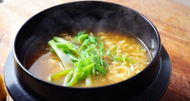 hot noodles soup