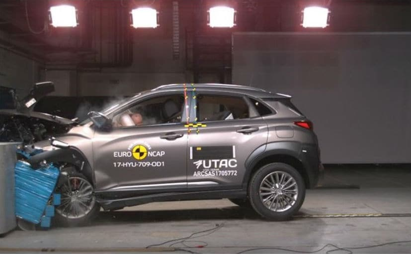 hyundai kona receives 5 star safety rating in euro ncap crash test ndtv carandbike. Black Bedroom Furniture Sets. Home Design Ideas