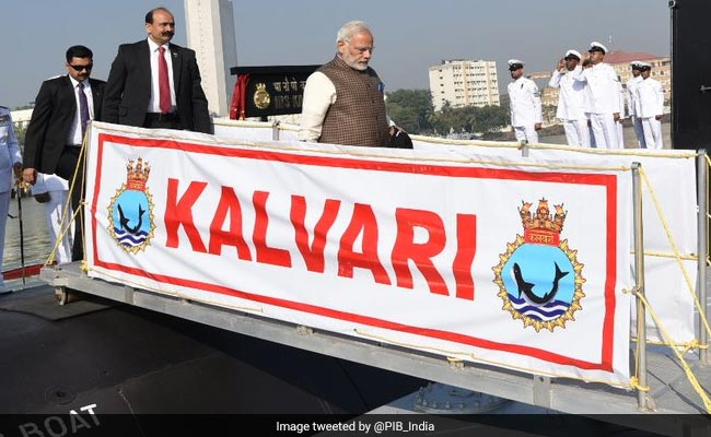 PM Modi to commission 'Kalvari' into Indian Navy today