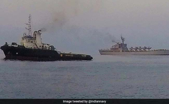 Indian Navy Extends Help To Singapore Vessel Stranded At Sea