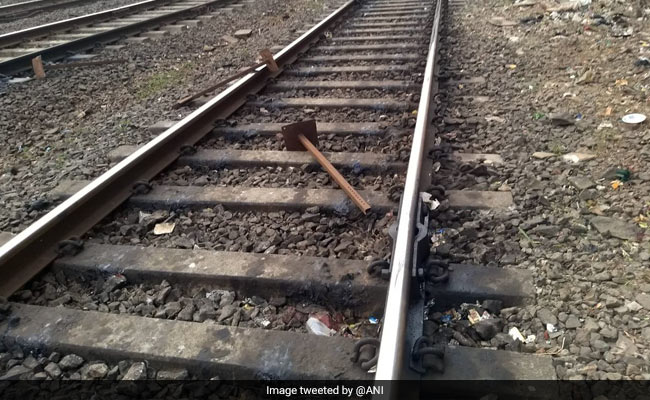 Mumbai Local Train Narrowly Avoids Crash After Iron Rods Spotted On Track