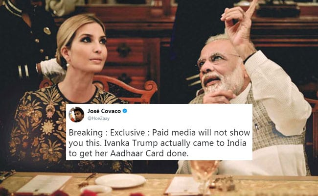 Ivanka Trump Was In India For Aadhaar Card, He Joked On Twitter. Enter UIDAI