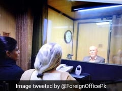 Kulbhushan Jadhav, On Death Row In Pak, Meets Family Across Glass Screen