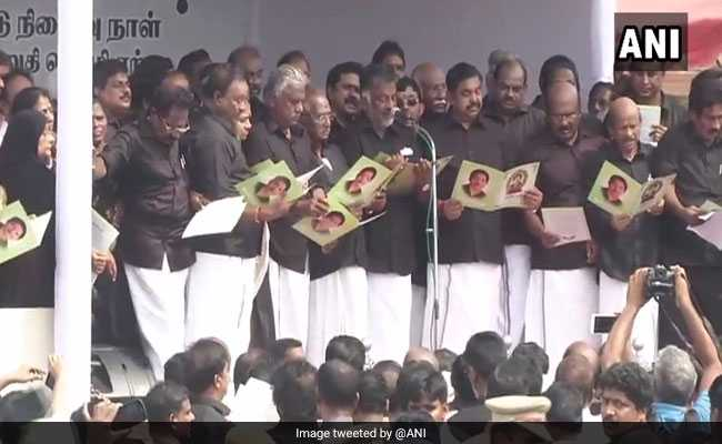 On Jayalalithaa's Death Anniversary, Thousands Hold Silent March To Her Memorial