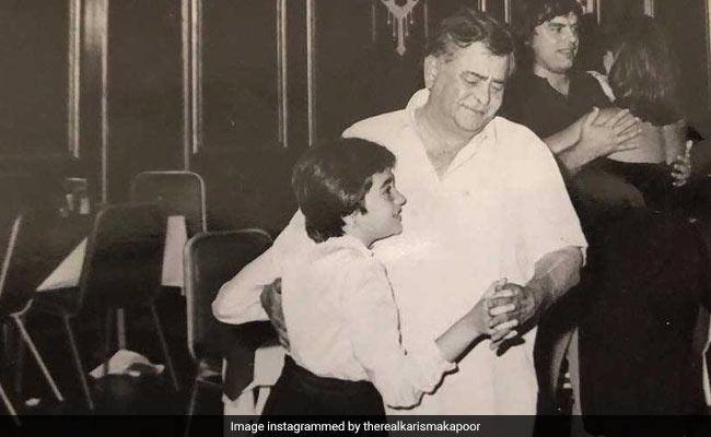 On Raj Kapoor's 93rd Birth Anniversary, Karisma Shares Pic Of 'First Dance'