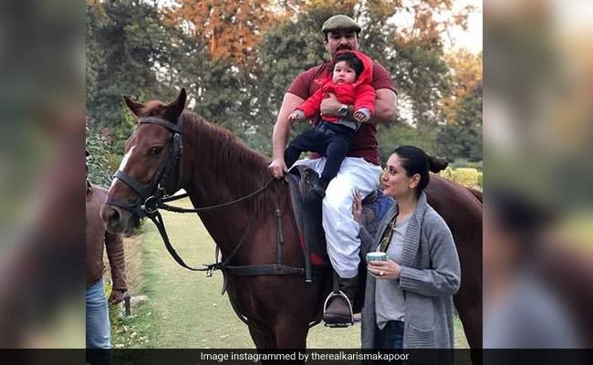 Saif Ali Khan And Kareena Kapoor Take Taimur Horse-Riding At Pataudi