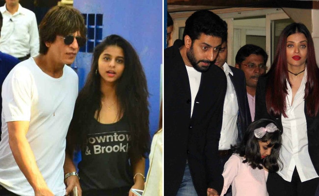 Shah Rukh Khan, Suhana, Aryan And Aishwarya, Abhishek Bachchan At AbRam And Aaradhya's Annual School Function