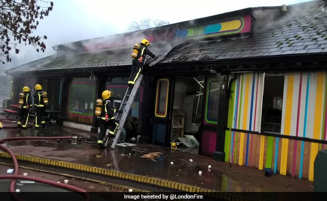 Fire Breaks Out At London Zoo