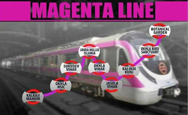 magenta metro line