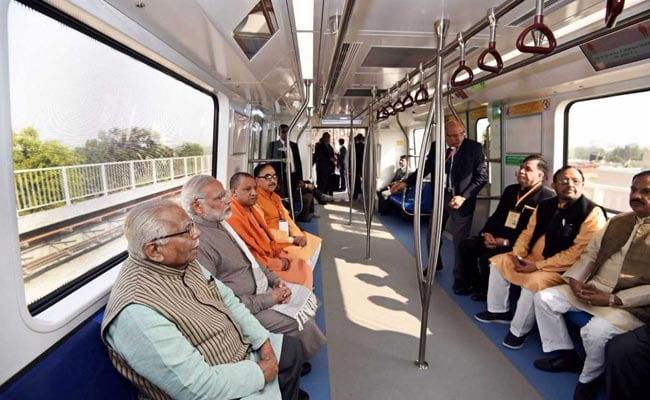 PM Narendra Modi Rides Delhi Metro Magenta Line, Yogi Adityanath By His Side: 10 Points